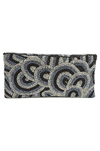 MyBatua Victoria Silver Grey wulstige Hand Clutch Ideal Tasche für jeden Anlass ACP-488