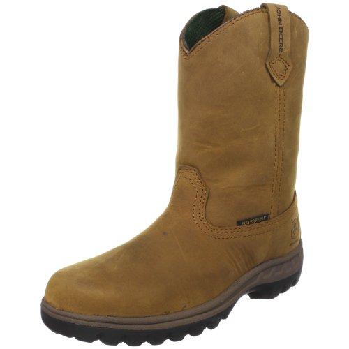 John Deere 3414 Western Boot (Little Kid/Big Kid) - Coffe...