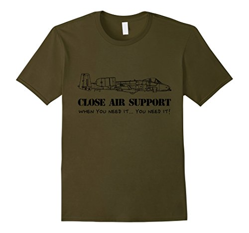 Men's Close Air Support, army airforce olive T-Shirt Medi...