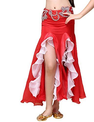 Legou Jupe Queue de Poisson Danse du Ventre Douce-Femme Rouge