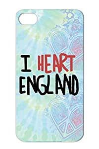 Sports World Cup Soccer Soccer Fans England Red For Iphone 4 I Heart England Case Cover