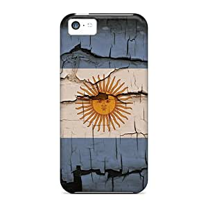 Quality 88caseme Cases Covers With Bandera Argentina Nice Appearance Compatible With Iphone 5c