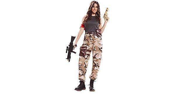 EUROCARNAVALES Disfraz de Soldado de Combate para Mujer: Amazon.es ...