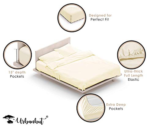 URBANHUT 1000 Thread Count 100% Cotton Sheets Set