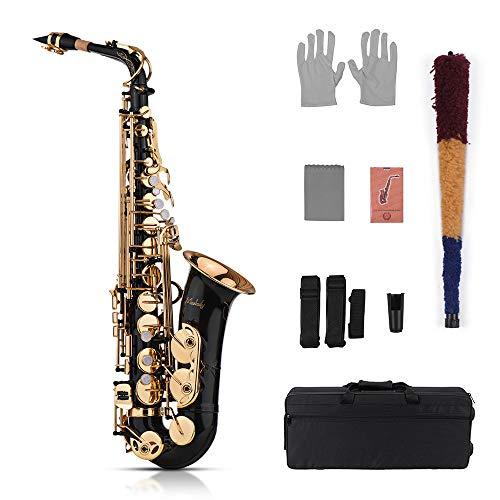 Muslady Eb Alto Saxophone Sax Brass Lacquered Gold 82Z Key Type Woodwind Instrument