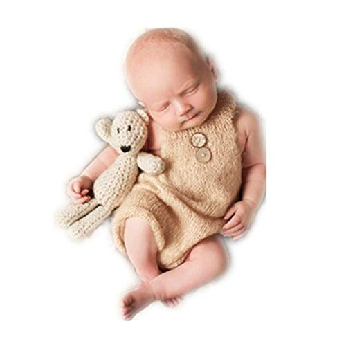 Vemonllas Luxury Fashion Unisex Newborn Baby Girl Boy Outfits Photography Props Rompers ()