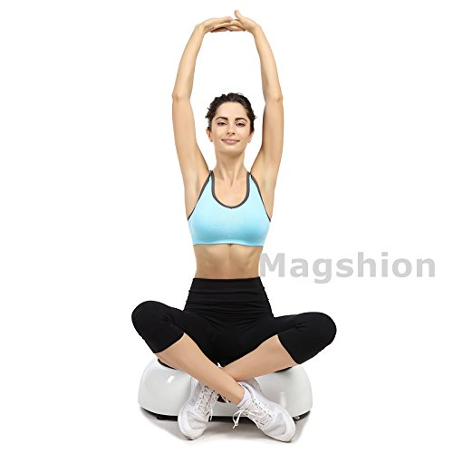 X-MAG Portable Whole Body Vibration Fitness Trainer Platform Machine with Straps, White by X-MAG (Image #5)