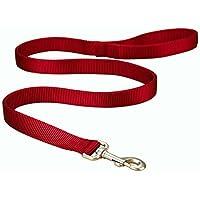 Punta de entrenamiento para perros Hamilton, de doble espesor, de nylon, 1 pulgada por 6 pies, rojo