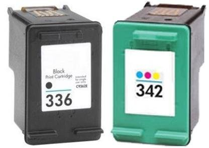 Remanufactured HP 336 342 (Black and Colour) Printer Ink ...