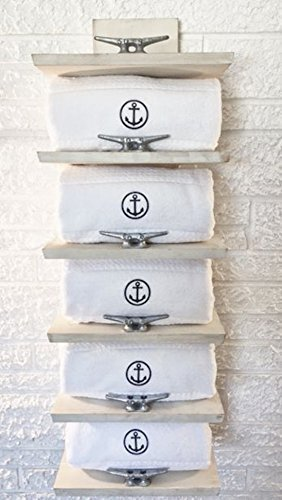 Nautical Towel Rack Luxury Coastal Décor by Beach Dweller Boutique by Beach Dweller Boutique