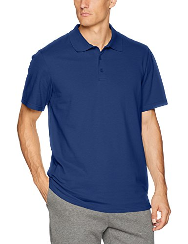 Starter Men's Short Sleeve Performance Pique Polo, Amazon Exclusive, Team Navy, Large ()