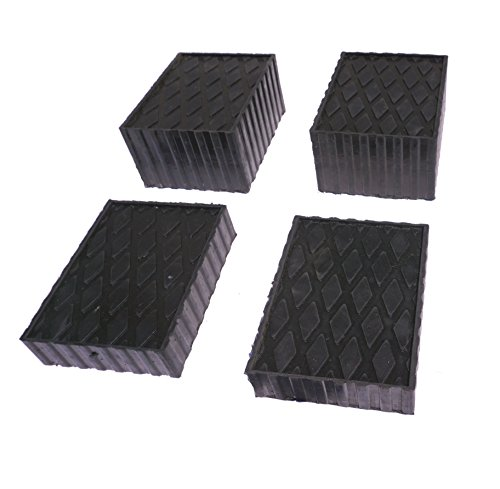 "Auto Lift/Rolling Jack Rubber Block Pad Adapter Set of 4 (2-1 1/2"" and 2-3"")"