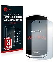 Savvies Tempered Glass Screen Protector compatibel met Garmin Edge 1030 (3 Stuks) - 9H Gehard Glas Scherm Beschermer