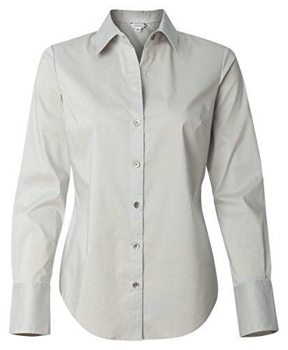 Calvin Klein Ladies' Cotton Stretch Dress Shirt. 13CK018 - Large - Ash