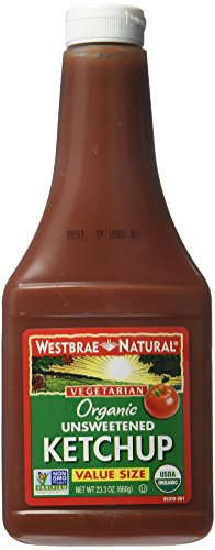 Westbrae Natural Organic Unsweetened Ketchup, 23.2 Ounce (Pack of 12)