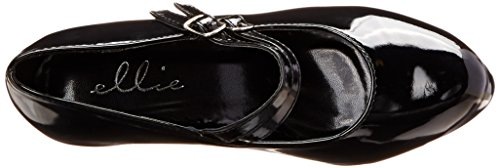 Ellie Shoes Womens 421 Jane Maryjane Pump Nero