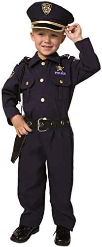 Deluxe Police Dress Up Costume Set - Small 4-6