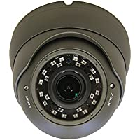 (1 Pack) 101AV Security Dome Camera 1080P True Full-HD 4 IN 1(TVI, AHD, CVI, CVBS) 2.8-12mm Variable Focus Lens SONY 2.4Megapixel STARVIS Image Sensor IR In/Outdoor Camera (Charcoal)