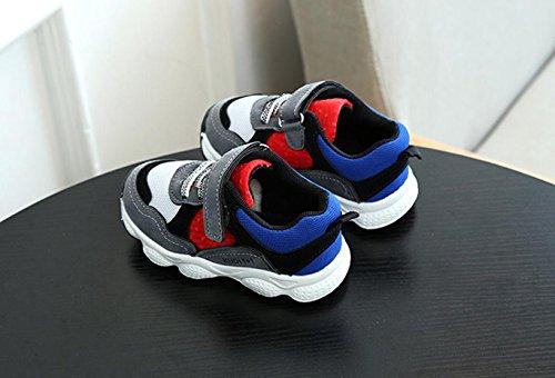 JIANGFU Männliche und weibliche laufende Turnschuhe, Kleinkind Kinder Mädchen Boy Patchwork Sport Laufschuhe Sneaker Babyschuhe Grau
