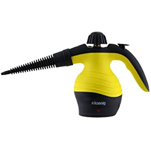 H.Koenig NV60 - Limpiador a vapor compacto, 1000 W, color amarillo