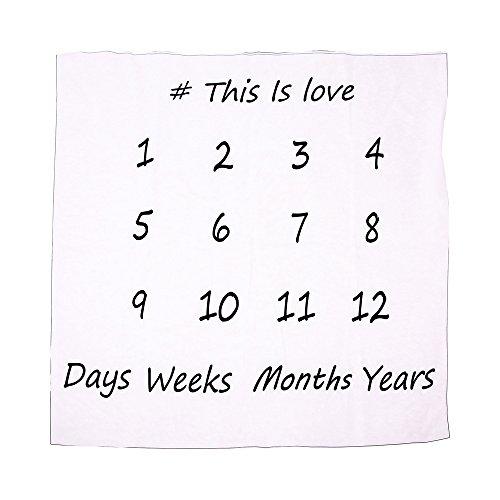 Baby Monthly Milestone Blanket Newborn Backdrop Photo Prop Shoot Blanket JB52 (A)
