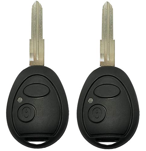 ALIWEI 2 Pack Replacement Key Fob Shell Case Fit for Land Rover Discovery 1999-2004 Keyless Entry Remote Casing Key Cover Housing with Uncut Blade Blank (Black)