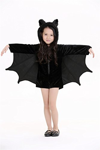 Children's Cozy Bat Jumpsuit Halloween Party Animal Costume Cosplay M
