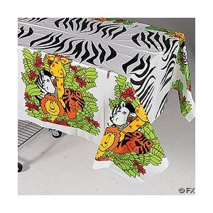 - Zoo Animal Party Tablecloth