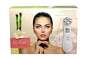 Au Fait Skin Care Galvanic High Frequency RF LED Light Therapy Anti Aging Facial Skin Tightening Beauty Device Facial Care System Improves The Appearance of Skin damaged by wrinkles, age, & UV Rays