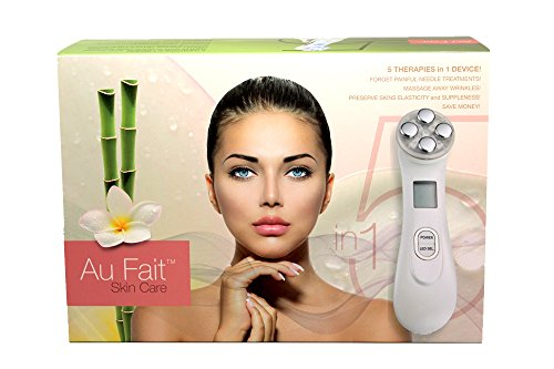 Au Fait Skin Care Galvanic High Frequency RF LED Light Therapy Anti Aging Facial Skin Tightening Beauty Device Facial Care System Improves The Appearance of Skin damaged by wrinkles, age, & UV (Anti Aging Skin Therapy)