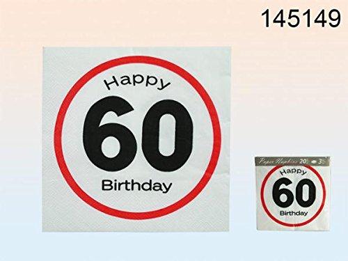 Servilletas de papel, diseño de cumpleaños 60 años de edad ...