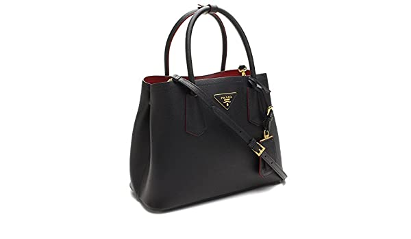 Prada Saffiano Nero Fuoco Tote Bag  Amazon.ca  Shoes   Handbags 777d13fd45418