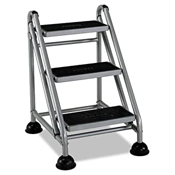 Amazon Com Cosco Rolling Commercial Step Stool 3 Step