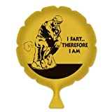 Beistle 54270 I Fart... Therefore I Am Whoopee Cushion, 8-Inch, Yellow/Black