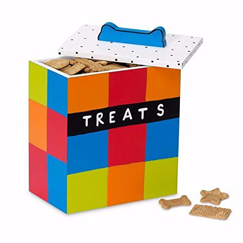 Up Country Multi color Dog Treat Box-Treats Not Included