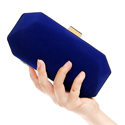 Color Clutch Wedding Suede Blue Bag JESSIEKERVIN Red Purse Evening Handbag 6WwBF6cxqf