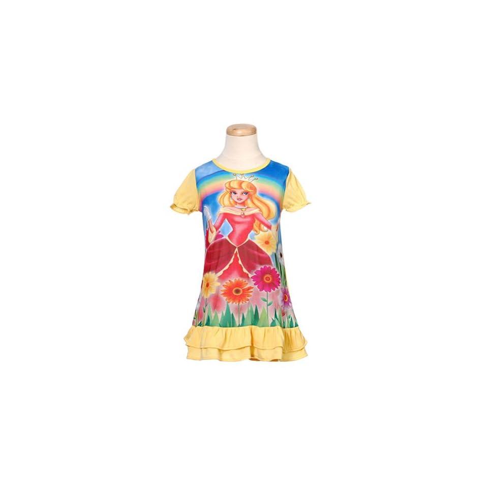 Toddler Girls Sleepwear Yellow Princess Nightgown 2T The Toon Studio Clothing