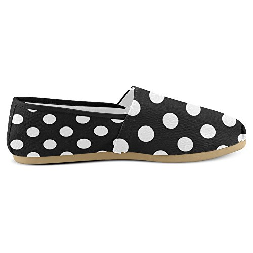 Interestprint Womens Loafers Klassiska Avslappnade Duk Slip På Mode Skor Gymnastikskor Lägenheter Multi 3