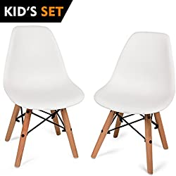 UrbanMod Kids Modern Style Chairs, [Set of 2] ABS Easy-Clean Chairs!! Highest Strength Capacity (330lbs)!