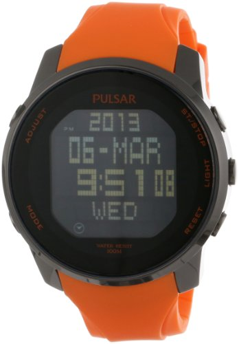 Pulsar Rubber Watch - Pulsar Men's PQ2013 Classic Digital Watch