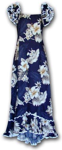 Muumuu Hawaiian Dresses The Luau Navy L 334-3162
