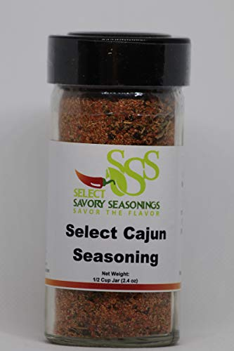 Select Cajun Seasoning: Select Savory Seasonings - Sugar Free - Keto, Low Carb, Diabetic, Diet Friendly, Gluten Free (Best Store Bought Cajun Seasoning)