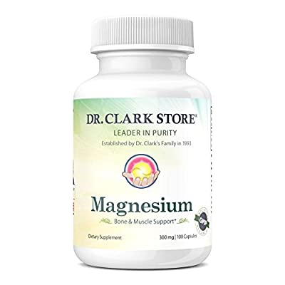 Dr. Clark Magnesium Oxide Supplement, 300mg, 100 capsules