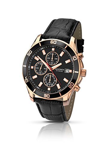 Mens Sekonda Night Fall Chronograph Watch 1051