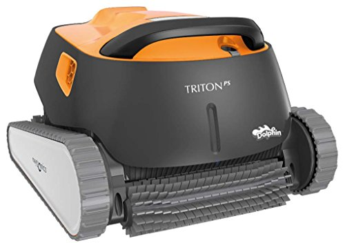 Dolphin Triton Robotic Pool Cleaner with PowerStream Ideal for Pools Up to 50 - Pool Vacuum Parts Robot