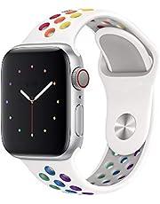 Pulseira Sport silicone furo NK para apple watch series 1,2,3,4,5 tamanho 42/44mm Pride