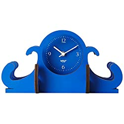 WOLF 333505 Jigsaw Mantel Clock, Blue