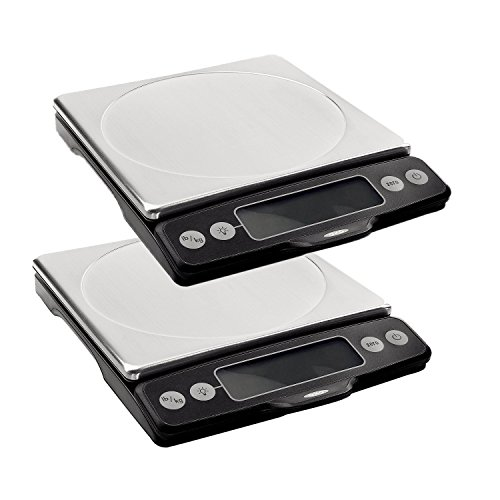 OXO Good Grips Stainless Steel Food Scale with Pull-Out Display, 11 Pound (Set of 2)