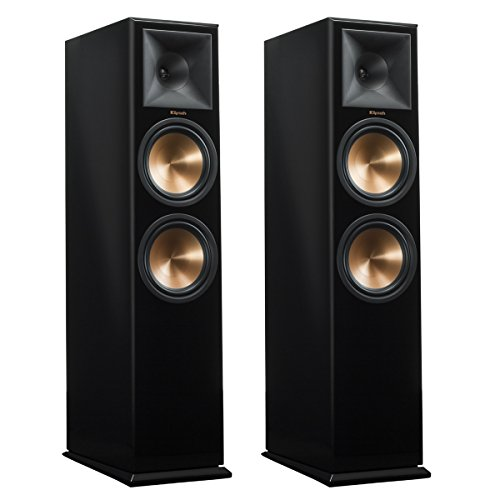 Klipsch RP-280F Reference Premiere Floorstanding Speakers with Dual 8 inch Cerametallic Cone Woofers - Pair (Piano Black) by Klipsch