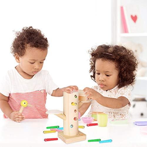 Sinwind Giocattolo Magnetico in Legno gioco insetti bambini Giocattolo Cattura del Picchio Magnetico Bambini Che Catturano Nutrono Gioco Giocattoli Educativo Regalo di Compleanno di Natale Capodanno